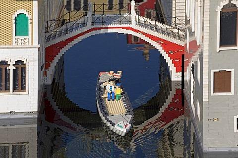Venice made of Lego bricks, Legoland Park near Guenzburg, Germany