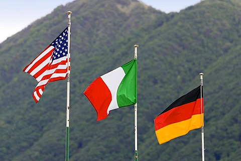 Flags of the USA, Italy and Germany