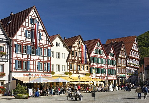 The marketplace of Bad Urach, Baden-Wuerttemberg, Germany
