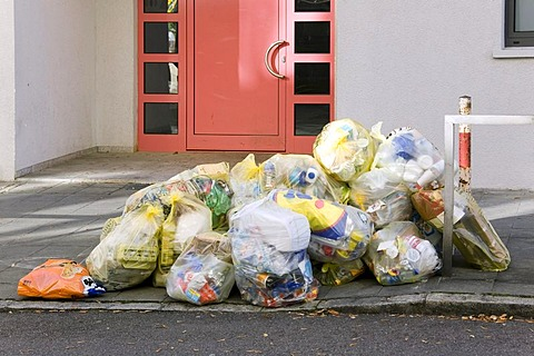 Many bags filled with rubbish