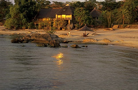 Lodge on a beach of Lake Malawi, Makuzi Beach, Malawi
