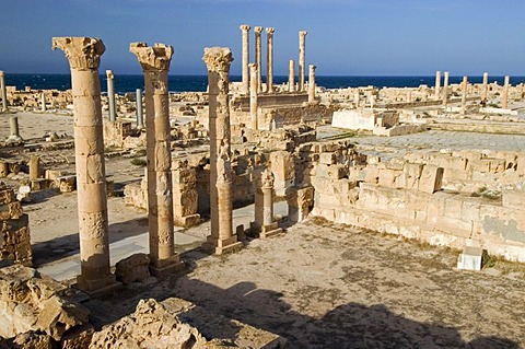 Roman archeological site of Sabrata, Libya