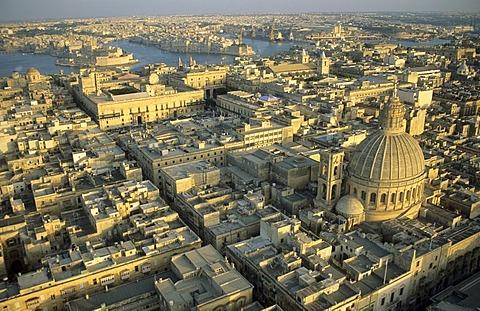 View over Valetta, La Valetta, capital of Malta, Unesco World Heritage Site