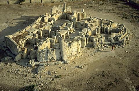Hagar Qim megalithic temple, Unesco World Heritage Site, Malta