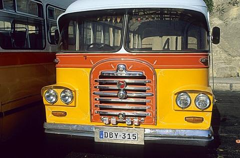 Old city bus in Valetta, La Valetta, Malta