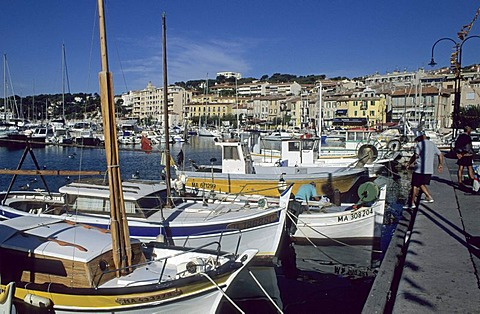 Boats in the harbour of Cassis, Provence, France