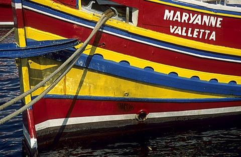 Colorful Luzzu boat, Malta