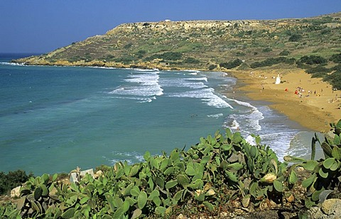 Beach at Ramla Bay, Gozo island, Malta
