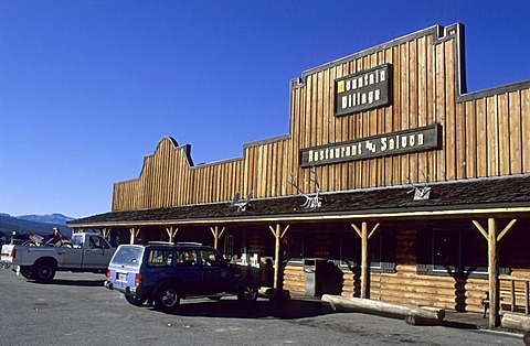 Saloon in Stanley, Sawtooth National Recreation Area, Idaho, USA
