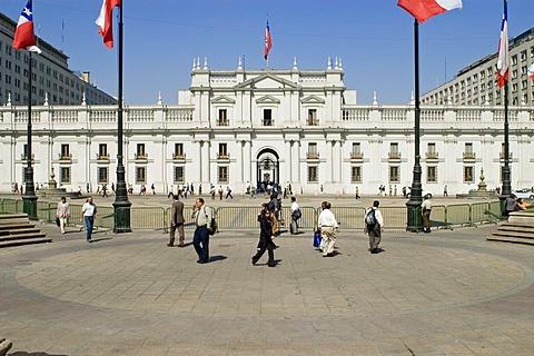 La Moneda, Presidents palace in Santiago de Chile, Chile