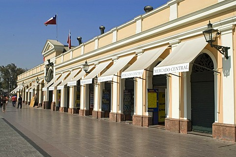 Central Market, Mercado Central in Santiago de Chile, Chile