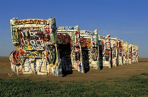Cadillac Ranch, Amarillo, Texas, USA