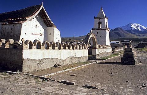 Historic altiplano church of Isluga, Isluga National Park, Chile