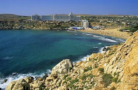 Hotel at Golden Bay, Malta Island, Malta