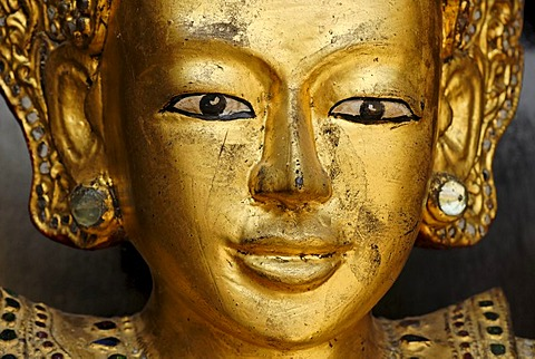 Golden buddhist statues, Yangon, Myanmar