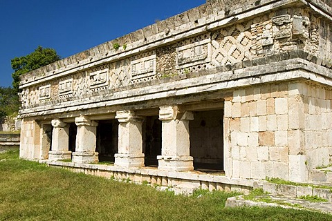 Cuadrangulo de las Monjas, quadrangle or square of the nuns, Maya archeological site Uxmal, Yucatan, Mexico