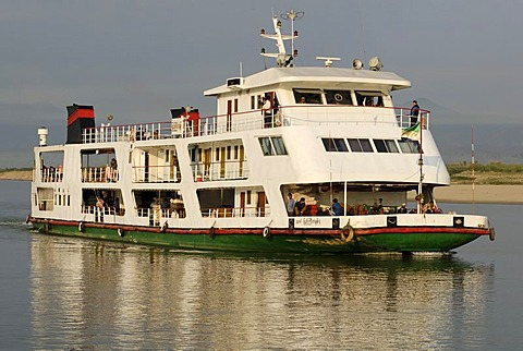 Ship on the Irrawaddy river, Myanmar