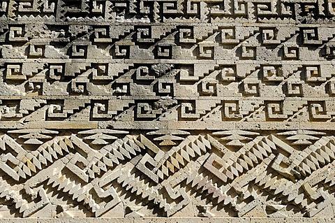 Mixtecan Grupo de las Columnas, Mitla, Lyobaa, Oaxaca, Mexico