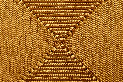 Carpet made of sisal, Museo Nacional de Antropologia, National Museum of Anthropology, Mexico City, Mexico