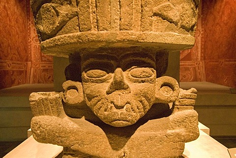 Prehispanic sculpture, Museum of Anthropology, Mexico City, Mexico