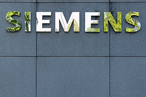 Logo of Siemens, Munich, Bavaria, Germany