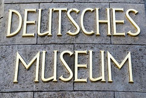 Logo of Deutsches Museum, Munich, Bavaria, Germany