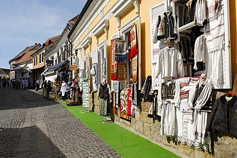 Souvenir lane in the historic old town of Szentendre, Hungaria