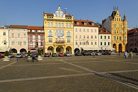 Historic old town of Ceske Budejovice, Budweis, Budvar, Bohemia, Czech Republic