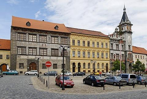 Historic city square of Prachatice, Bohemia, Czech Republic