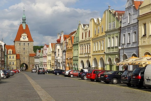 Historic old town of Domazlice, west Bohemia, Czech Republik