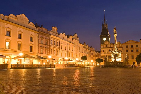 Historic old town of Pardubice on the Labe, Elbe, east Bohemia, Czech Republik