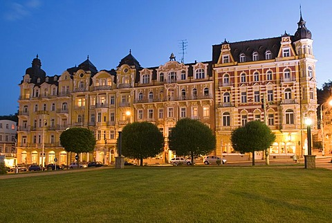Hotel at health resort Marianske Lazne, Marienbad, West Bohemia, Czech Republik