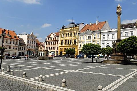 Historic city square of Ceska Lipa, Bohemia, Czech Republik