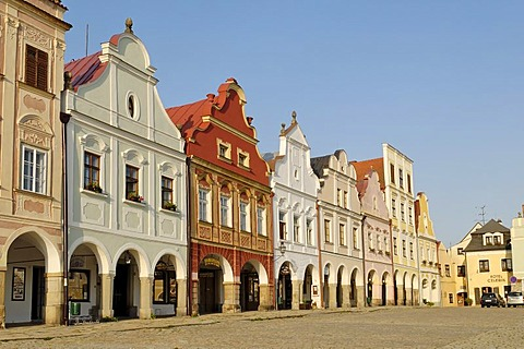 Historic old town of Telc, Unesco World Heritage Site, South Moravia, Czech Republic