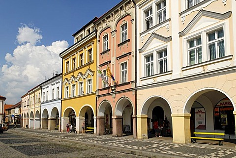 Historic old town of Jicin, East Bohemia, Czech Republic