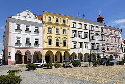 Historic old town of Jindrichuv Hradec, South Bohemia, Czech Republic