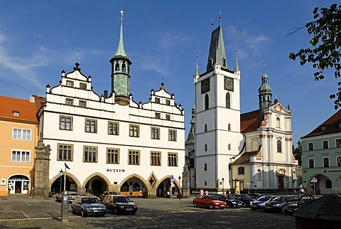 Historic old town of Litomerice, Bohemia, Czech Republik