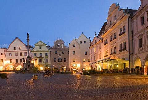 Historic old town of Cesky Krumlov, south Bohemia, Czech Republic