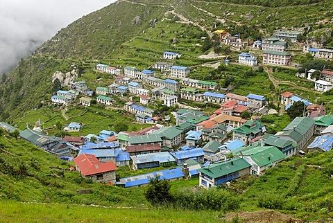 Namche Bazar, Sagarmatha National Park, Mount Everest region, Solukhumbu, Khumbu, Nepal