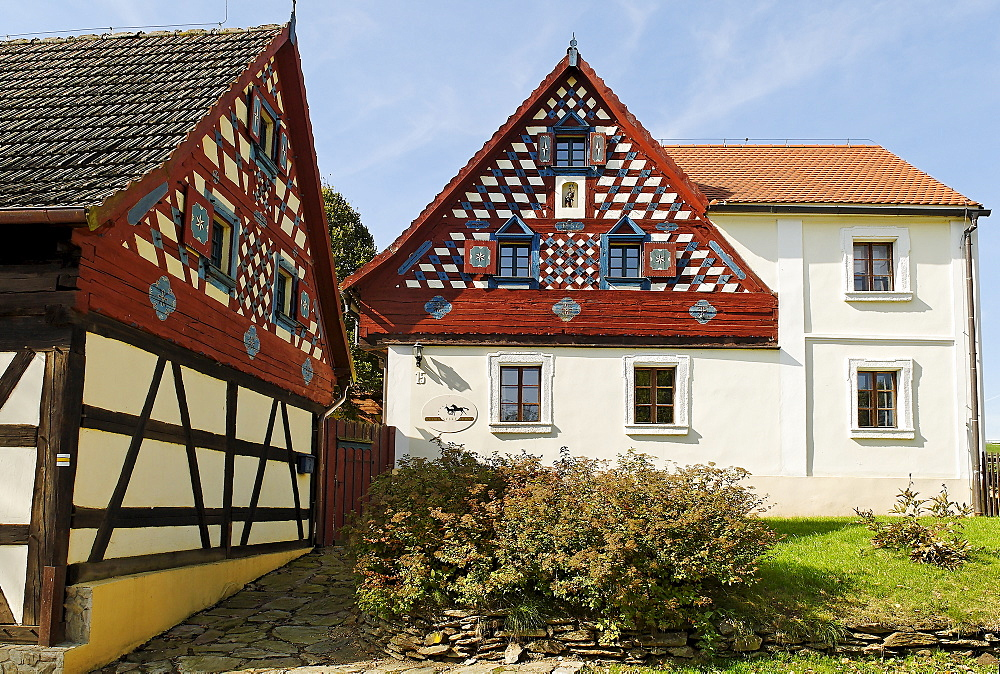 Traditional farmhouse at Doubrava, Egerland, west Bohemia, Czech Republic