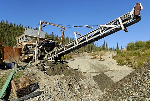 Equipment of a goldmine, Dawson City, Yukon Territory, Canada