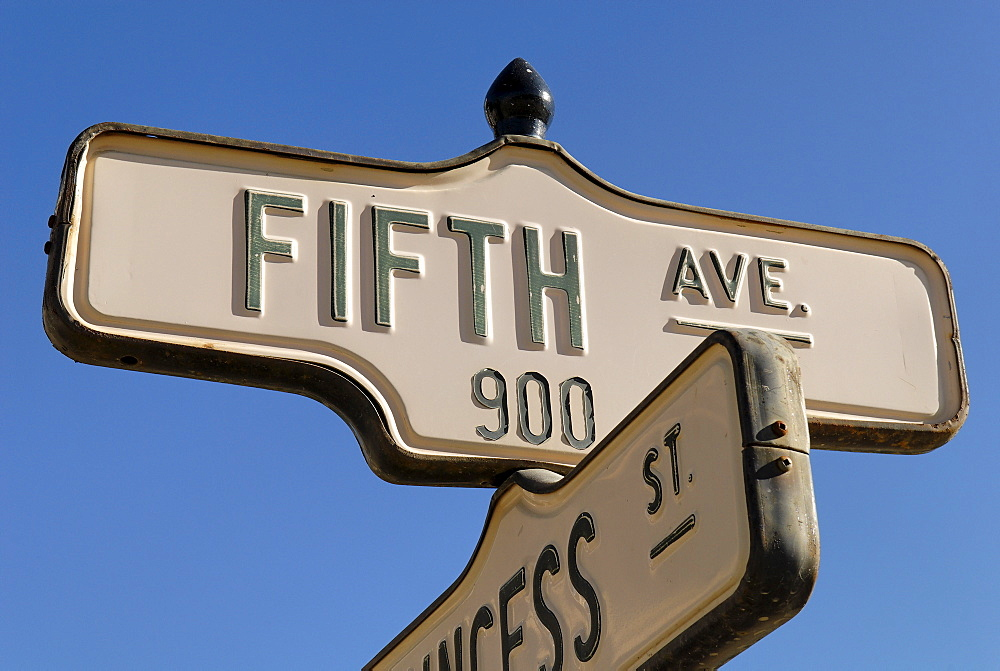 Fifth Avenue sign, Dawson City, Yukon Territory, Canada