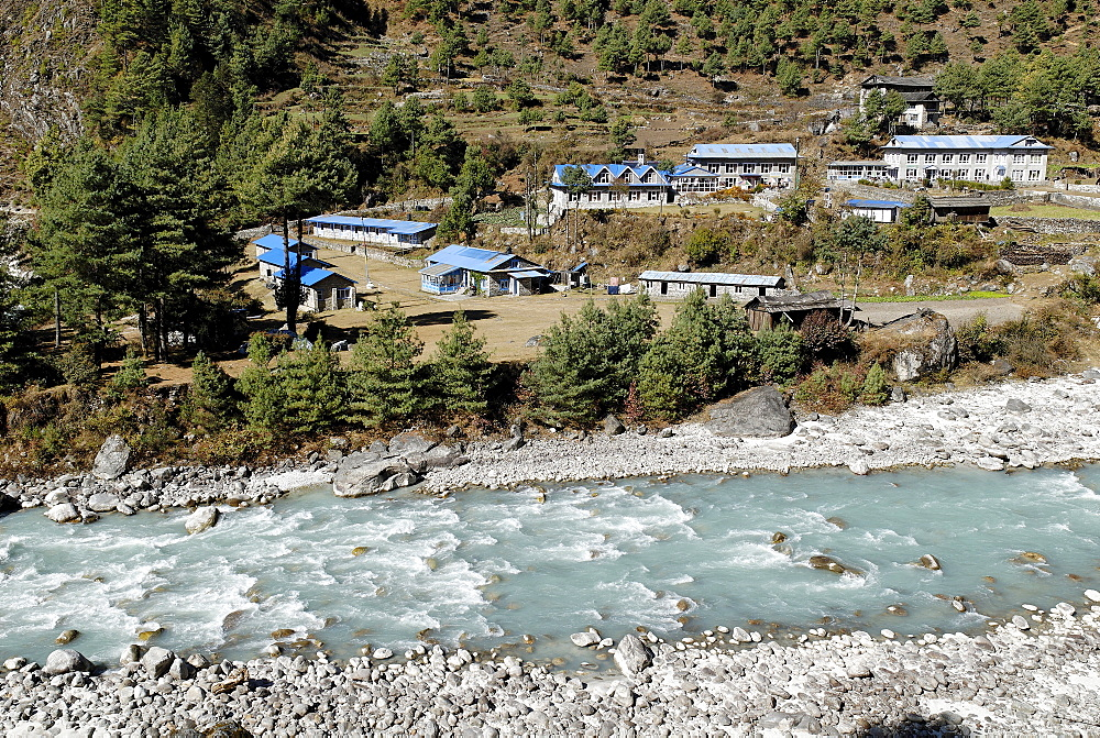 Phakding Sherpa village, Dudh Koshi valley, Sagarmatha National Park, Khumbu, Nepal