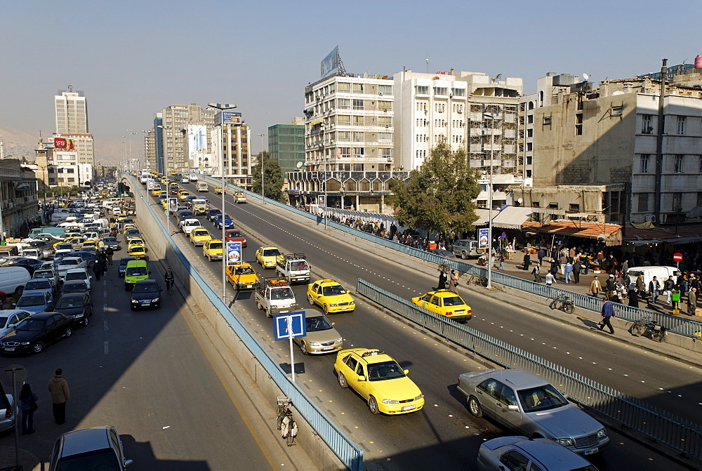Streetscape at Damascus, Syria