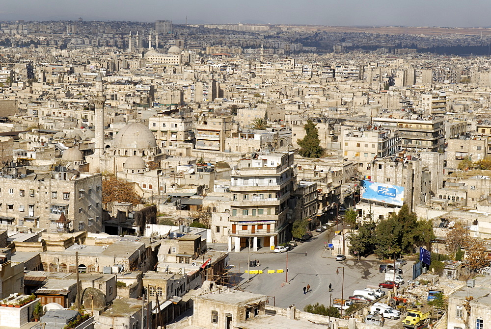 View from the citadelle over Aleppo, Syria