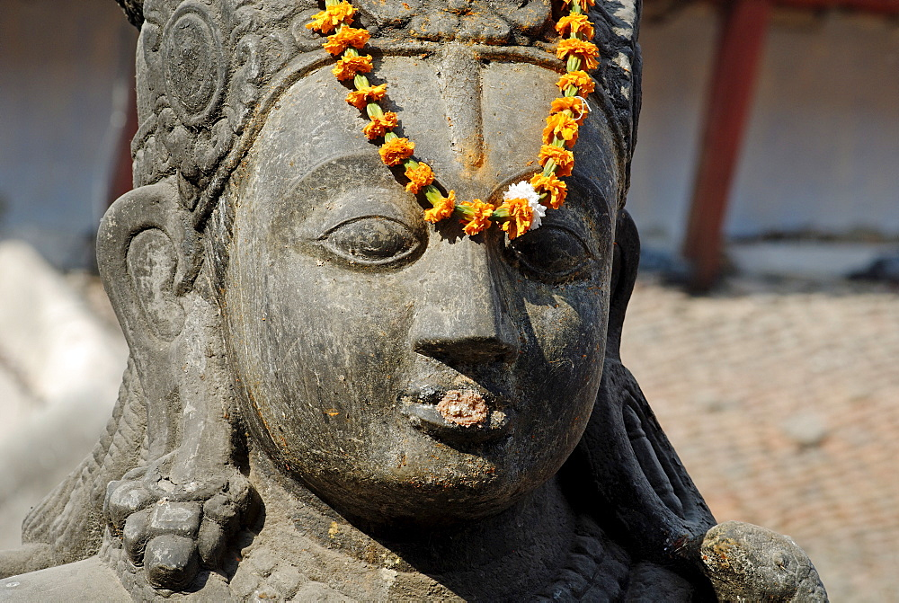 Hinduistic statue, Durbar Square Tempel, Kathmandu, Nepal