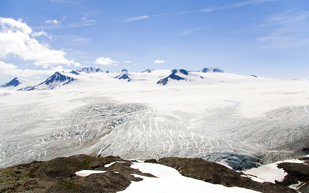 Harding Icefield, glacier, Kenai Peninsula, Alaska, USA