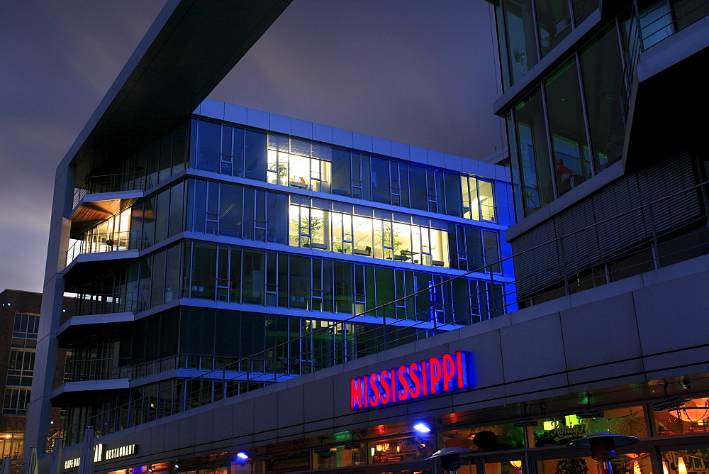 H2 office building, Innenhafen Harbour, Duisburg, North Rhine-Westphalia, Germany