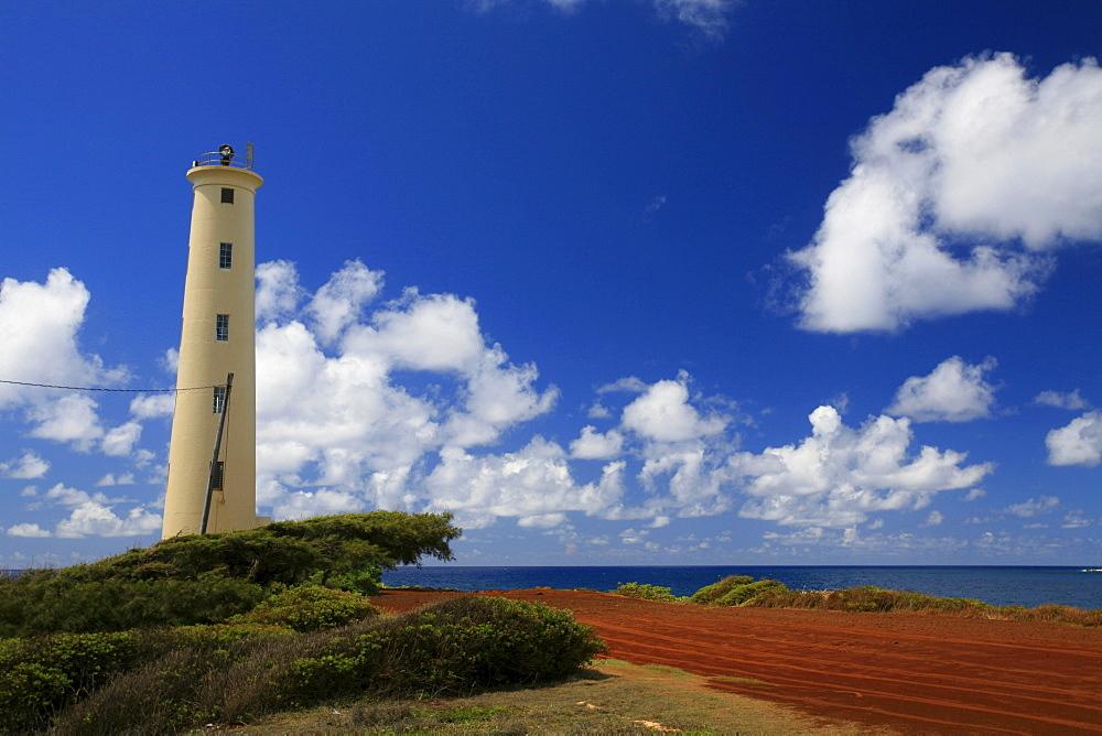 Ninini Point and lighthouse, Lihue, Kaua'i Island, Hawaii, USA