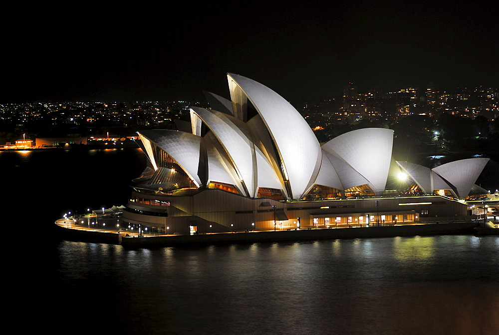Sydney Opera House at night, Sydney, New South Wales, Australia